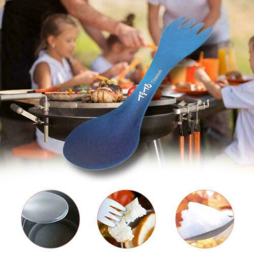 Details about  /Outdoor Camping Picnic Titanium Spoon Fork Spork Tableware Hot Color G2O0