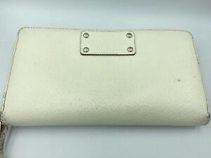 Kate-Spade-Wallet-Cream-White-Leather-Polka-Dot-Interior-Accordion-Clutch-Zipper