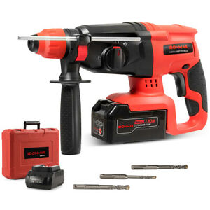 IRONMAX 20V Cordless Lithium-Ion SDS Plus Rotary Hammer Drill 3 Mode w/Drill Bit