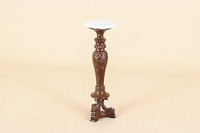 Dollhouse Miniature BESPAQ DIRECT  TALL PEDESTAL TABLE  6093-NWN