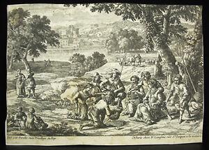 Rechercher Des Vols Gabriel Perelle 1604-1677 Scène Paysanne Travail Des Champs Chez Langlois C1650 Volume Large