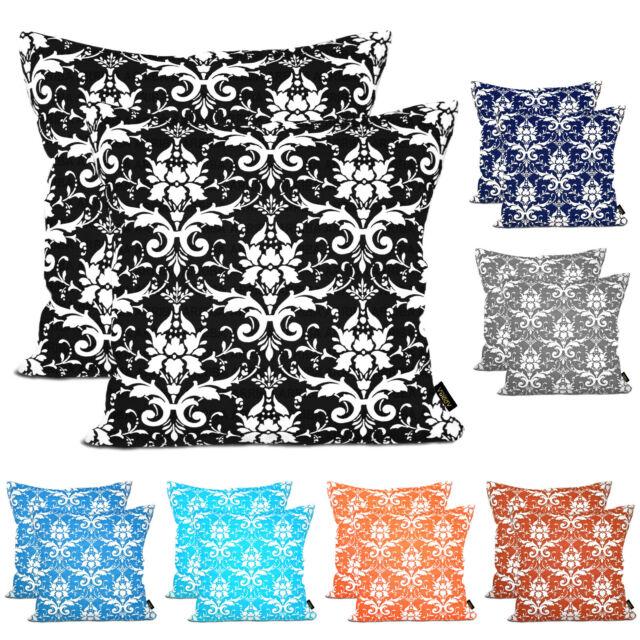 Arriba-2 to 4 Pcs Ikat Trellis Throw Pillow Decorative Cotton Cushion Covers.