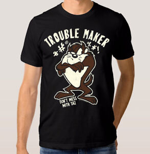 Taz-039-Trouble-Maker-039-Art-T-shirt-Tasmanian-Devil-Looney-Tunes-Shirt-All-Sizes