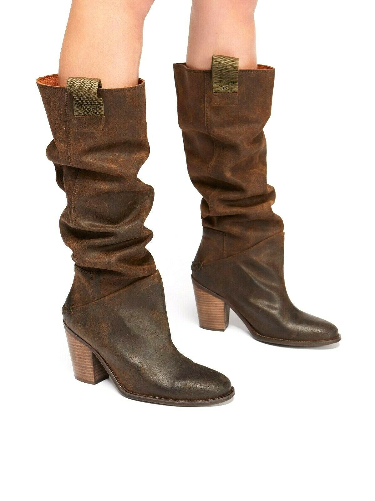 248 FREE PEOPLE  6, 7, 8.5 MONTGOMERY SLOUCH Stiefel SUEDE