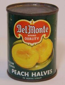 Vintage 1950s DEL MONTE Mini PEACHES Tin Can Play Food San Francisco California