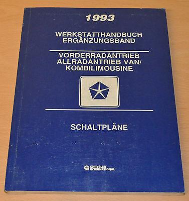 Offen Werkstatthandbuch Chrysler 1993 Ergänzung Vorderradantrieb Allradantrieb Van.. PüNktliches Timing