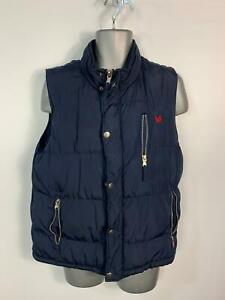 Homme-Crew-Clothing-Bleu-Marine-Casual-Hiver-Rembourre-Gilet-Body-Warmer-taille-L
