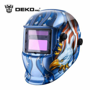 Solar Powered Auto Darkening Welding Helmet with Adjustable Shade Range #9 - #13