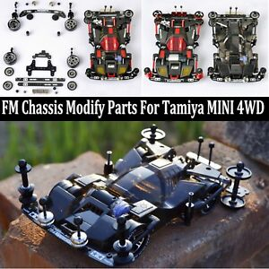 Replacement-FM-Metal-Chassis-Modify-Parts-Set-For-Tamiya-Mini-4WD-RC-Car-Model