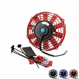 Auto 7 Electric 12v 80w Radiator Cooling Fan Push Pull With Mounting Kit Type Ebay