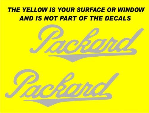 "X PACKARD VINYL DECALS STICKERS SILVER  2 1//2/"" X 9/"" EACH"