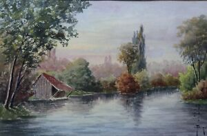 Francois-Joseph-Girot-1873-1916-Landscape-D-039-Fall-Watercolour-Jules-Flandrin