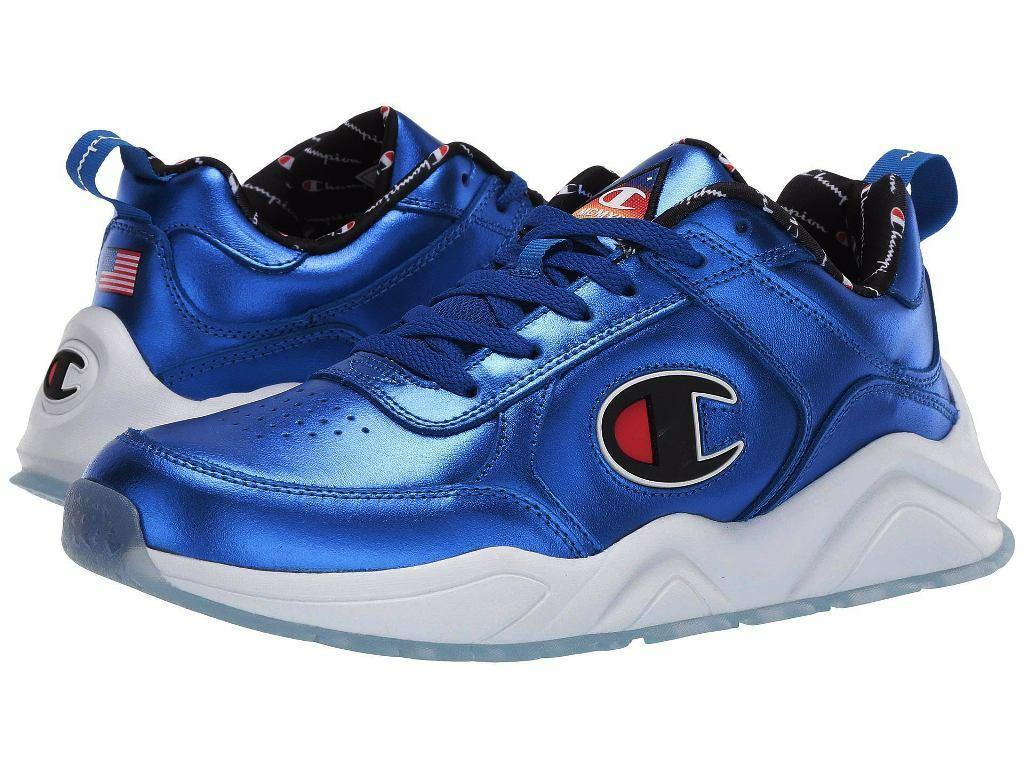 Nuevo Para hombres CHAMPION 93 dieciocho metallirunning Informales Zapatos - 10.5 Azul