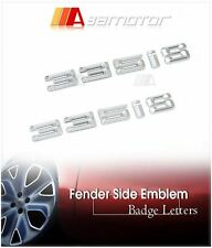 2x Door Fender Side Chrome Emblem Badge Decal Letter Stickers BMW E90 E92 335is