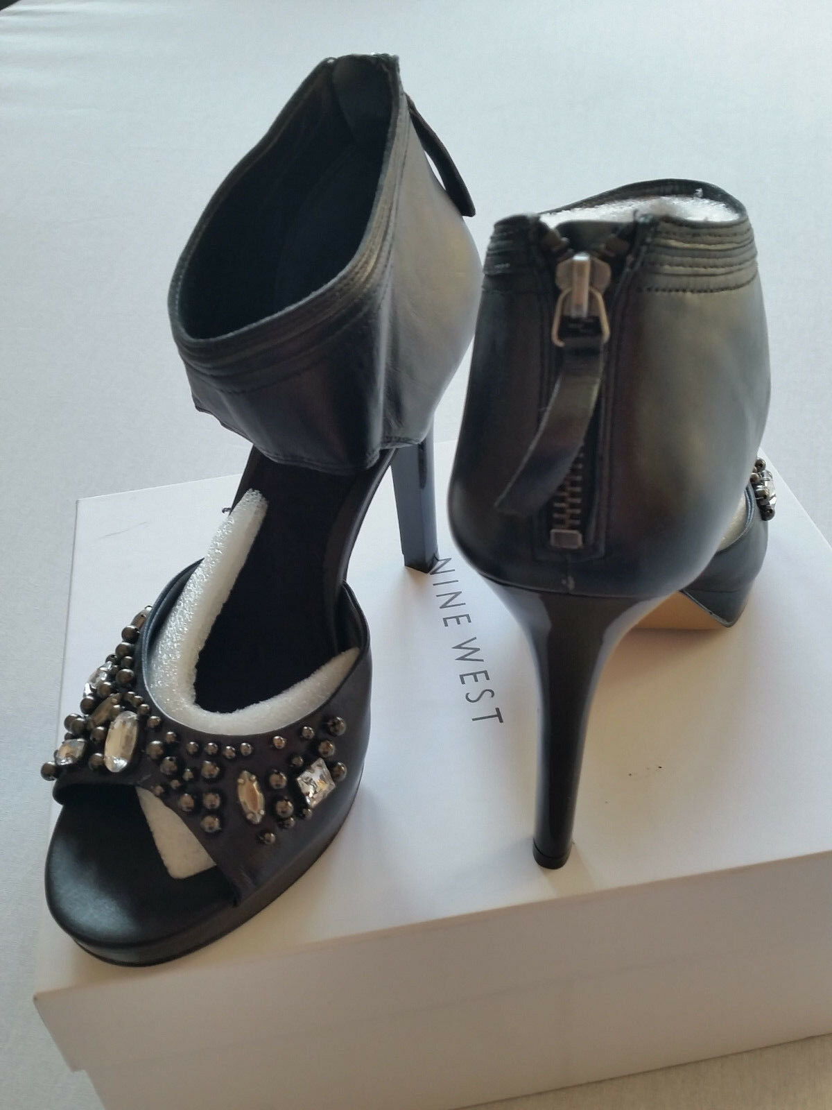NINE WEST High heels black Leder  39,5UK6,5NEU