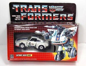 Transformers G1 Jazz 1984 Signe de pré-frottement scellé sur la bulle Armes non utilisées Hasbro