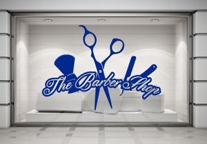 La-Barberia-Afeitar-amp-Corte-de-Pelo-Salon-Pared-Ventana-Tienda-Pegatina-Arte