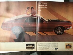 "Ford mustang 1969 mach 1 13x20"" Original 2 page AD-Grand Garage decor-afficher le titre d`origine 0FtT1pO3-09165311-506835608"