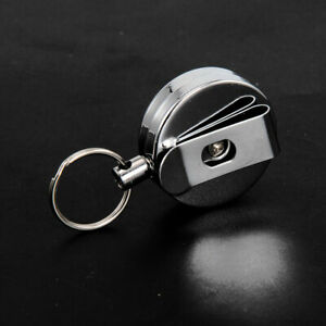 2Pcs-Stainless-Silver-Retractable-Key-Chain-Recoil-Keyring-Heavy-Duty-Steel-HD3