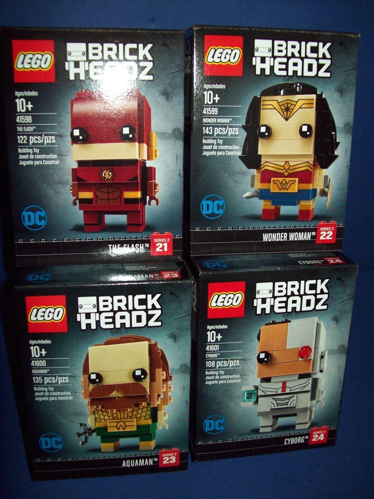 Lego Dc Brickheadz Lotto 41598 41599 41600 41601 Lampeggiante Wonder Donna
