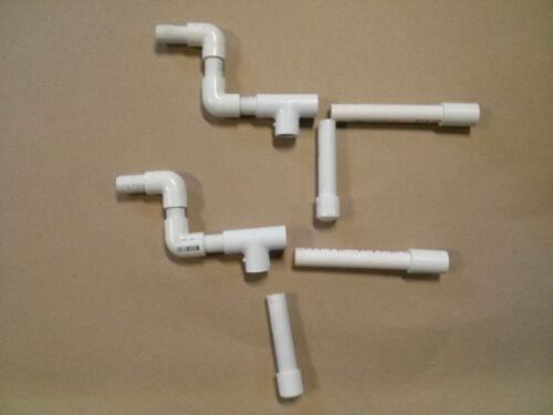 Set 0f 2 Marshmallow PVC Blow Guns Marshmellow Shoots Mini Mallows and Nerf Dart