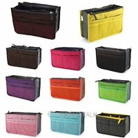 Unisex Insert Handbag Organizer Bag Storage Travel Bath Cosmetics Tidy Nylon