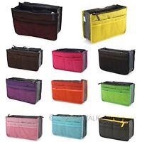 Unisex Insert Handbag Organizer Bag Storage Travel Bath Cosmetics Tidy Nylon