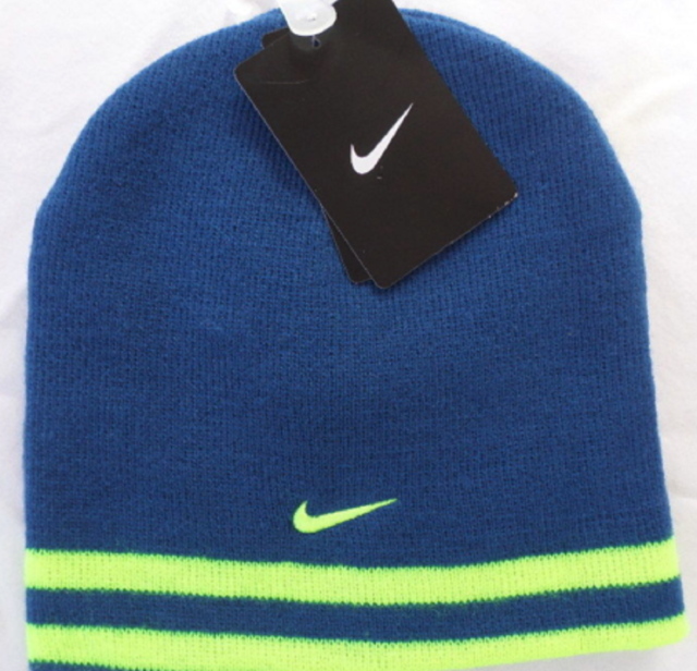fbc911db35b74 Youth Boys Size 8 20 Nike Stretch Knit Winter Beanie Reversible Hat Gray  Orange