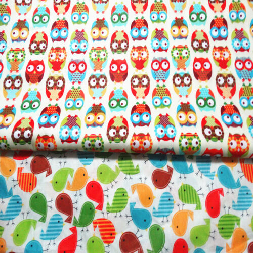 One PCS Cotton Fabric Pre-Cut Quilt Cloth Fabric for Sewing Owl or Bird A3