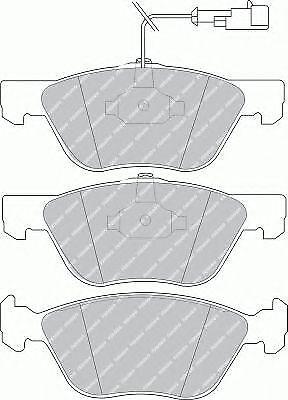KIT PASTIGLIE FRENI ANTERIORI FIAT Coupe /'93-/'00 1.8 16V 96 KW 131 CV
