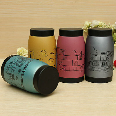 250ml Stainless Steel Vacuum Cup Flask Travel Insulated Mug Coffee Lid