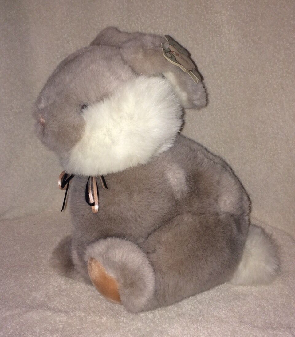 Gund Vintage Bunny Rabbit Plush Brambles grau Stuffed Toy 11