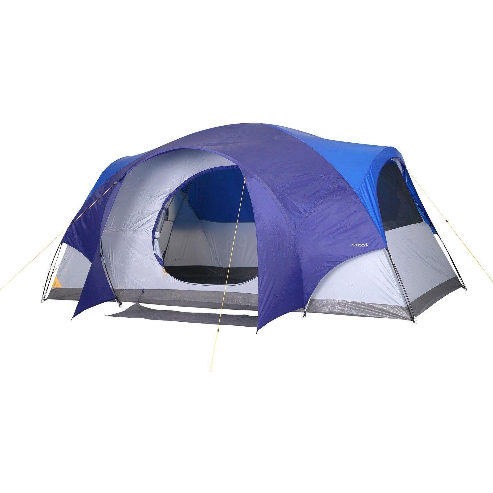8 personne instantanée tente camping & Randonnée abri 14' X 8' X 6.8' embarquer  NOUVEAU