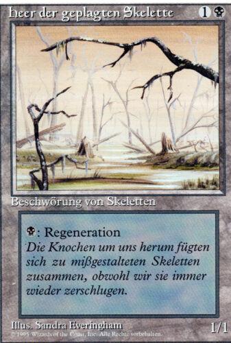 Drudge Skeletons Heer der geplagten Skelette Misprint//Fehldruck Magic PL DE
