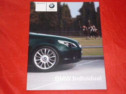 BMW 5er e60 Limousine individual prospetto brochure di 2004