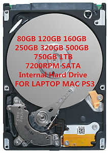 """Laptop 2.5/"""" SATA Internal Hard drive 250GB 320GB 500GB 750GB 1TB 5400RPM NEW HDD"""