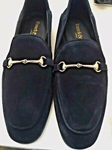 Russell-amp-Bromley-Navy-Suede-Ladies-Loafers-Size-3-36-New-with-Box