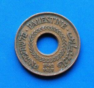 Israel-Palestine-British-Mandate-5-Mils-1942-Coin-XF
