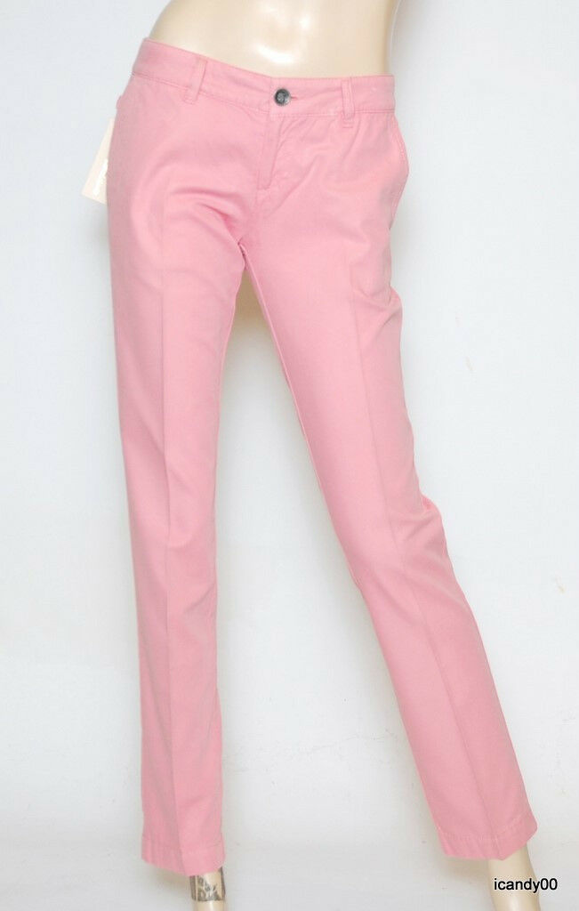 Nwt Diesel Pannic Slim Fit Straight Leg Ankle Pants Trousers Pink 28-31