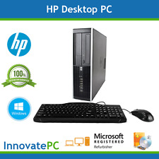 SALE! Fast HP Desktop Computer PC Core2Duo 4GB 250GB Windows Pro w/ Warranty
