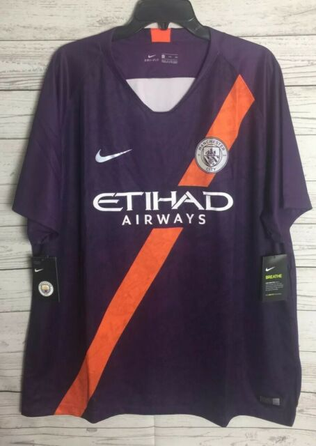 new arrival 34f34 ba1db $90 NIKE MANCHESTER CITY FC SOCCER THIRD JERSEY 919001-538 NIGHT PURPLE XXL
