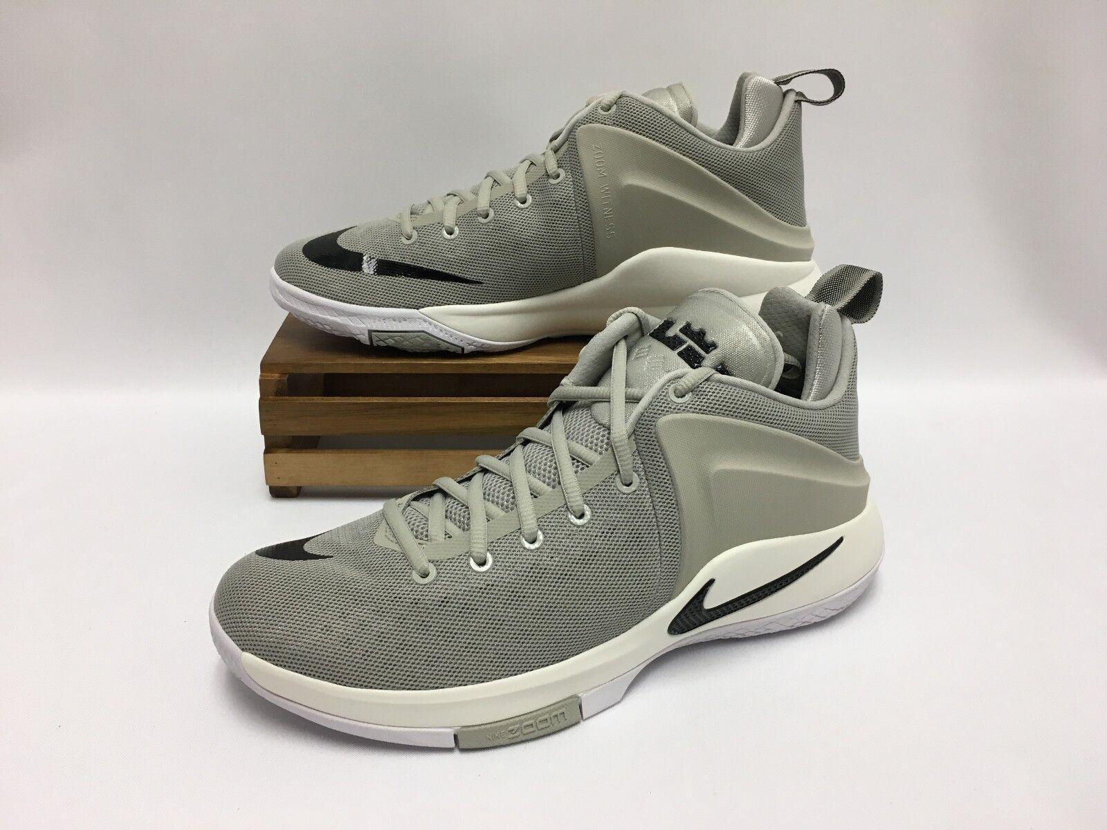 Nike zoom testimone lebron scarpe da basket grigio bianco nero 852439-011 uomini e 12