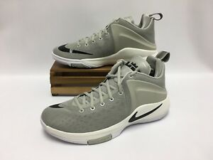 Image is loading Nike-Zoom-Witness-LeBron-Basketball-Shoes-Grey-Black- 9fa998198c9