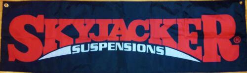Skyjacker Suspensions Flag Garage Mancave Automotive Racing Banner 58x17In