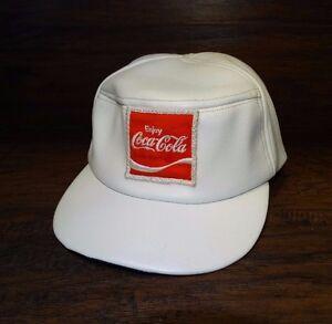 Image is loading 15057-Vintage-Coca-Cola-LEATHER-Snapback-Baseball-Cap- fb3acca2666