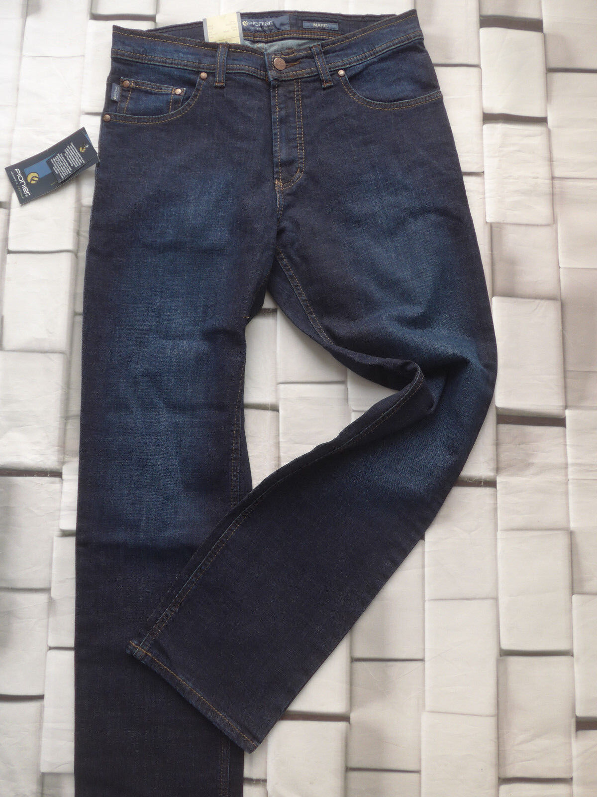 Pionier Women's Jeans Trousers Denim Model Marc Size W32 L30 Dark bluee (665)