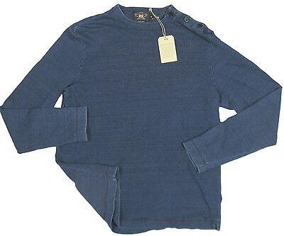 NEW Ralph Lauren Double RL RRL Indigo Dyed Shirt!  Nautical Shoulder Buttons