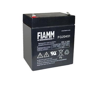 Compatibile Fiamm FG20451 Batteria al piombo ricaricabile 12V 4,5Ah ermetica UPS
