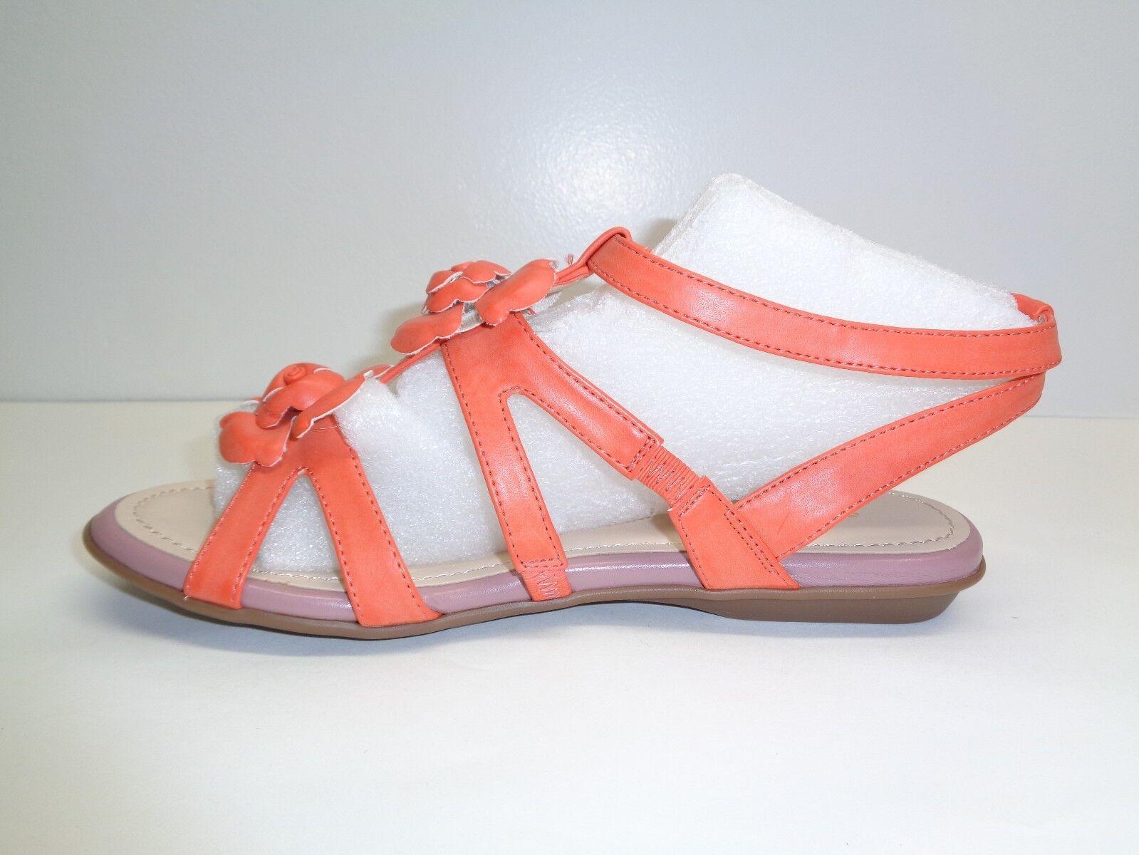 Easy Spirit Dimensione 6 W WIDE RAVINDRA RAVINDRA RAVINDRA Coral arancia Floral Sandals New donna scarpe a49c8c
