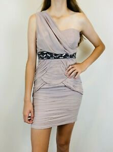Lipsy-London-Womens-Pink-1-Shoulder-Dress-Size-8